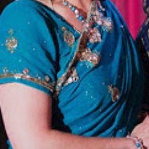 Dresses & Skirts - Saree Sari Indian Dress Bollywood Wedding Teal